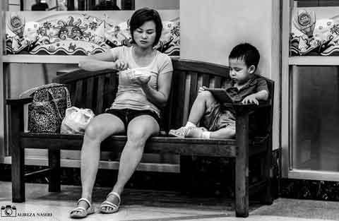 عکس مادر و کودک